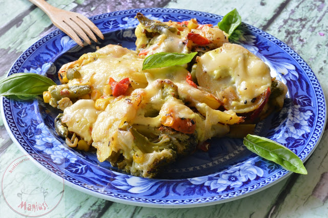 Warzywa zapiekane z serem