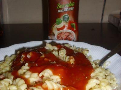 """""""Łazanki"""" with Salsa Mexicana Souce"""