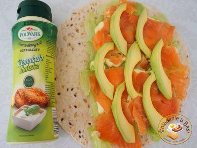 Wrap with smoked salmon and Remulada Dunska souce