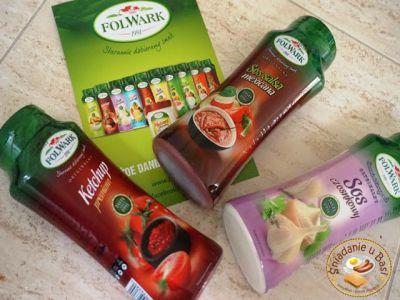 Folwark Ketchup premium, Sos salsa mexicana i Sos czosnkowy na Pomysłowe i pyszne śniadania