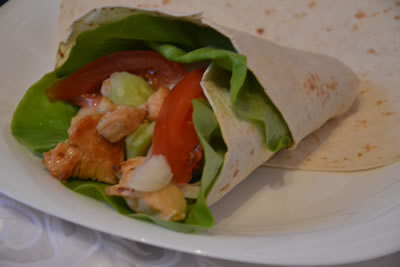 Home tortilla with chicken